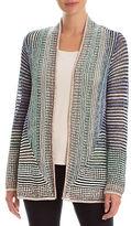 Nic+Zoe Striped Open-Front Jacket