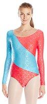 Danskin Women's Long Sleeve Gymnastics Leotard
