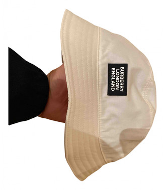 Burberry White Cotton Hats & pull on hats
