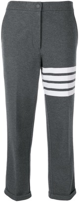 Thom Browne 4-Bar stripe cropped trousers