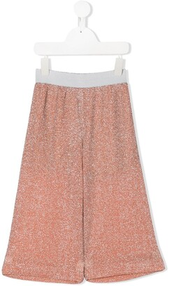 Caffe' D'orzo Glitter Loose-Fit Trousers