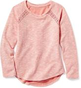 Old Navy Lace-Trim Raglan-Sleeve Pullover for Girls