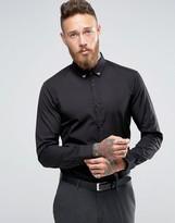 Hugo By Hugo Boss Smart Shirt Slim Fit Metal Collar Tips