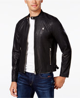 G Star Men's Faux-Leather Aviator Jacket