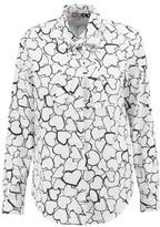 MSGM Printed Cotton-Poplin Shirt