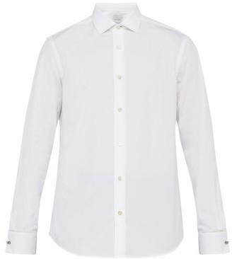 Paul Smith Artist-stripe Double-cuff Cotton-poplin Shirt - Mens - White