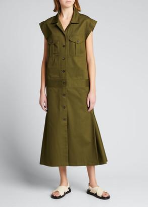 Rachel Comey Pelham Organic Cotton Utilitarian Dress