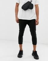 Asos Design DESIGN skinny super cropped chinos in black