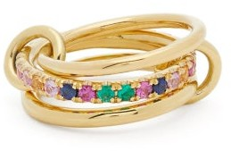 Spinelli Kilcollin Petunia Sapphire, Emerald & 18kt Gold Ring - Green Multi