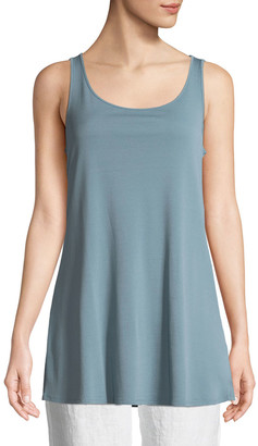 Eileen Fisher Stretch-Silk Jersey Sleeveless Tunic
