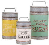 Imax Worldwide Home Dairy Barn Decorative Lidded Containers, 3-Piece Set