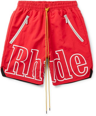 Rhude Logo-Print Shell Drawstring Shorts