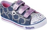 Skechers Kids' Twinkle Toes Shuffles Glitter Heart Sneaker Toddler