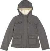 KC Collections Heather Black Hooded Jacket - Girls