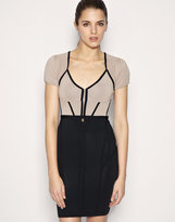 Body-Conscious Corset Knitted Dress