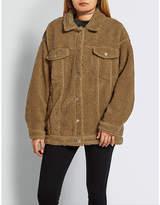 Missguided Oversized teddy-bear jacket