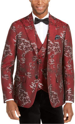 Tallia Men Slim-Fit Metallic Floral Dinner Jacket