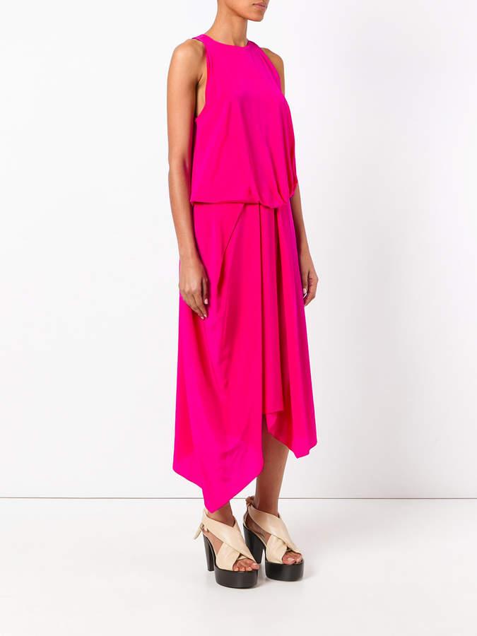 Chalayan tuck drape dress