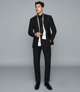 Reiss MARCEL SLIM FIT DINNER SHIRT Black