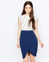 Sugarhill Boutique Heart Print Tulip Skirt Dress