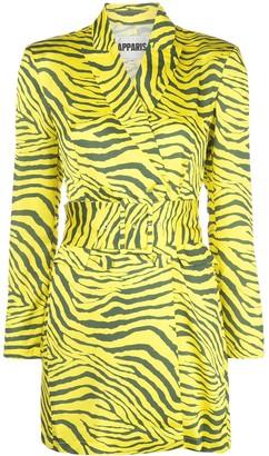 Apparis Zebra Print Belted Dress
