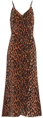 Miu Miu Leopard-print silk dress