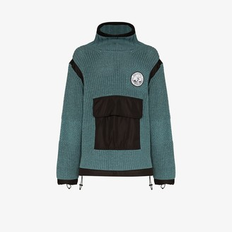 Off-White Duality High Neck Knit Anorak