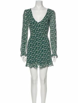 Reformation Floral Print Mini Dress w/ Tags Green