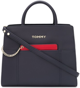 Tommy Hilfiger faux-leather tote bag