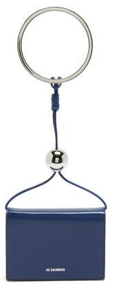 Jil Sander Ring And Sphere Leather Wristlet Wallet - Blue