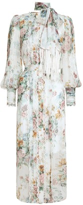 Zimmermann Wavelength Scallop Midi Dress