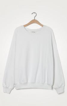 American Vintage White Wititi Long Sleeves Womens Sweatshirt - tu