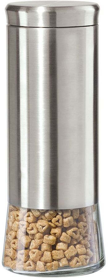 Oggi 11-in. glass & stainless steel canister