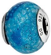 Prerogatives Blue Python Glitter Italian MuranoGlass Bead