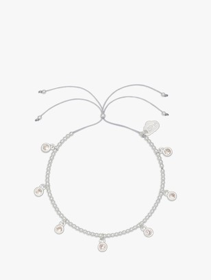 Estella Bartlett Louise Cubic Zirconia Droplets Slider Friendship Bracelet