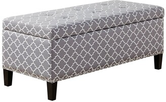Madison Home USA Tessa Grey Tufted Top Storage Bench