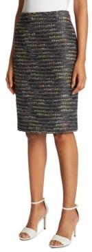 Tahari ASL Sequined Textured Pencil Skirt