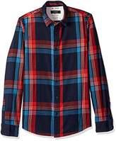 Scotch & Soda Men's Regular Fit Flanel Shirt in Bright Color Checks