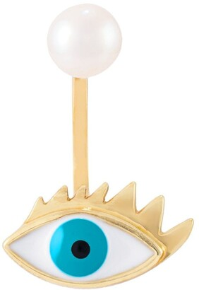 Delfina Delettrez 9kt gold and pearl Eye piercing earring