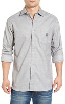 Psycho Bunny Men's Slim Fit Flannel Woven Shirt