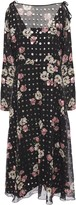 RED Valentino Cold-shoulder Floral-print Fil Coupe-chiffon Midi Dress