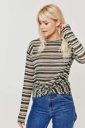 Ardene Striped Twisted Sweater