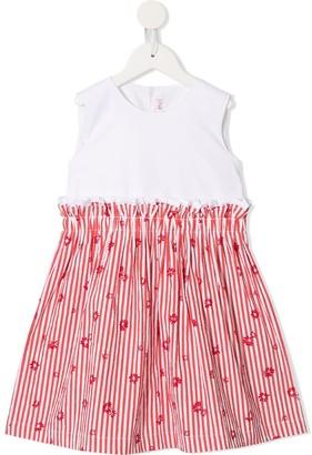 Il Gufo gathered stripes dress