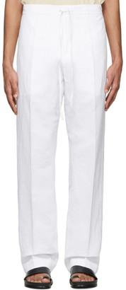 Jil Sanderand White Drawstring Trousers