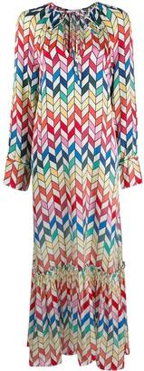 Mira Mikati Geometric Print Dress