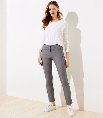 LOFT Speckled Skinny Ankle Pants