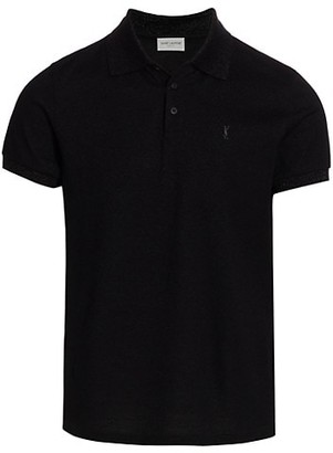Saint Laurent Embroidered Logo Sport Polo