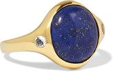 Pamela Love Essential gold-plated, lapis lazuli and topaz ring