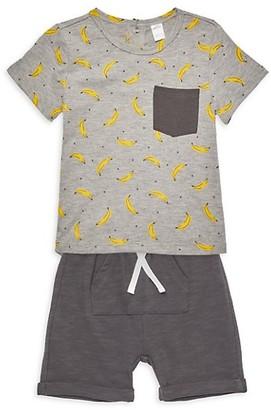 Petit Lem Baby Boy's 2-Piece Print T-Shirt Shorts Set