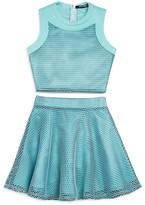 Miss Behave Girls' Mesh Top & Skirt Set - Big Kid